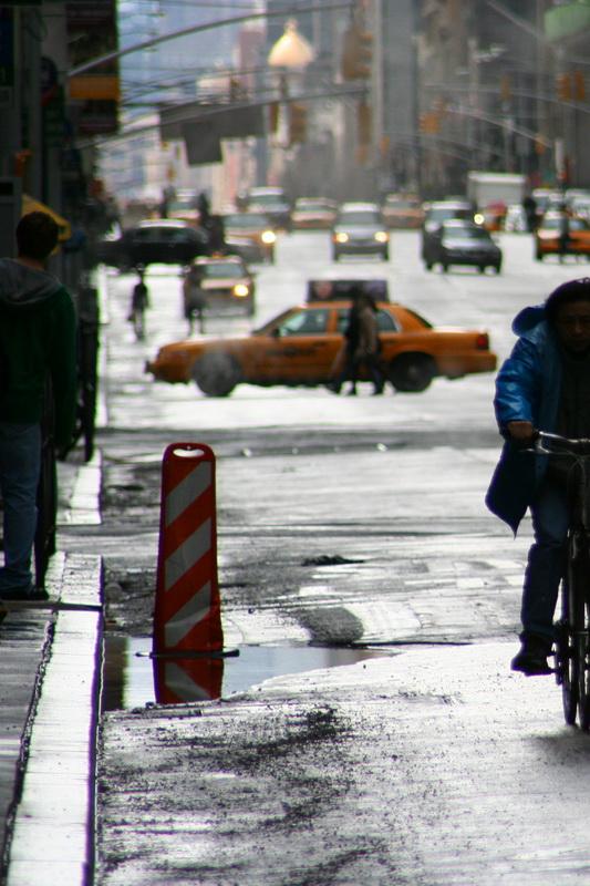 Scorcio di una strada a Manhattan