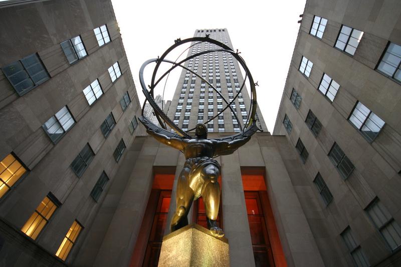 La statua di Atlas al Rockefeller Center