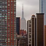 Scorcio di Manhattan in un giorno nuvoloso