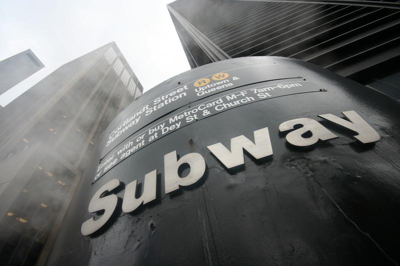 Ingresso della metropolitana a Cortlandt Street