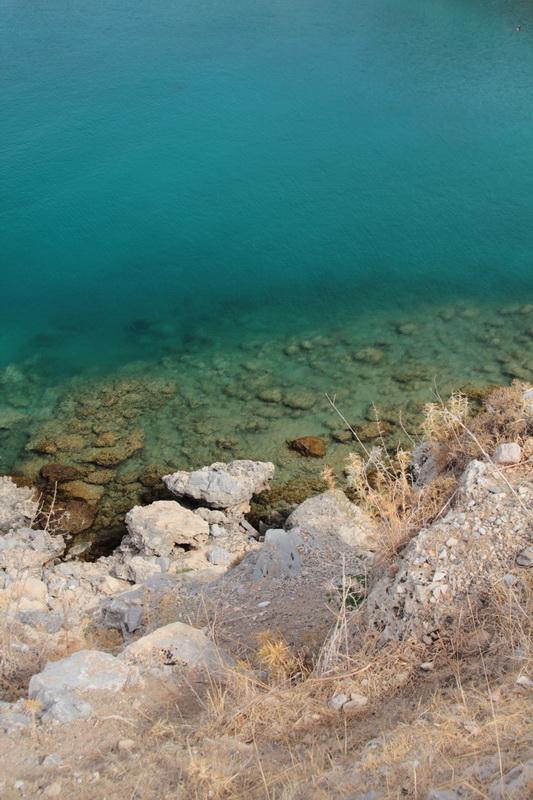 l'acqua limpida di Lindos