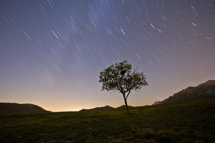 Star trail nei pressi di Fonte Vetica