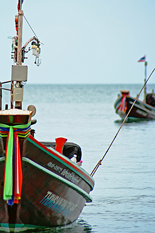Barche ormeggiate a Koh Phangan