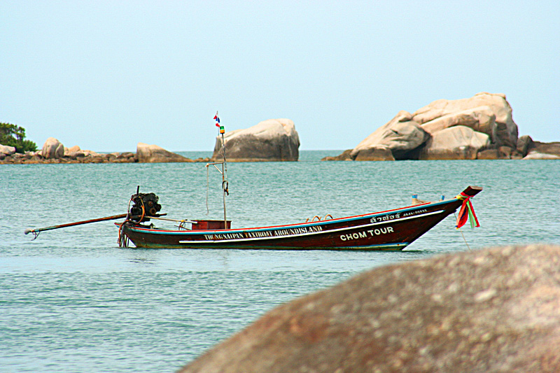 Barca ormeggiata a Koh Phangan