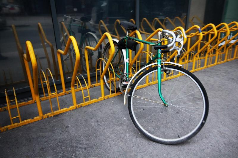 bicicletta per strada